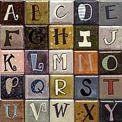 Each an Original 1x1 Letter Magnet