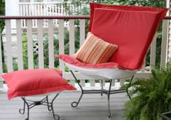Outdoor patio puff chair Starboard Punch